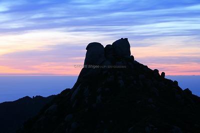 奥岳の夜明けs
